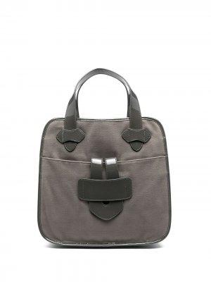 Парусиновая сумка-тоут Zelig Tila March. Цвет: серый