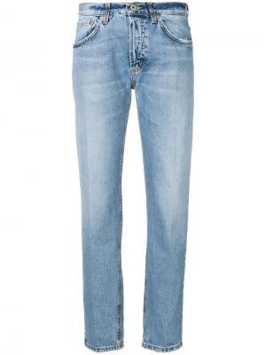 Зауженные джинсы со стрелками Dondup. Цвет: синий