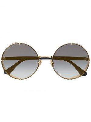 Солнцезащитные очки Lilos в круглой оправе Jimmy Choo Eyewear. Цвет: черный