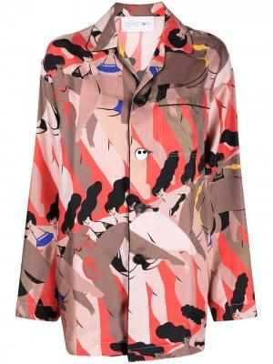 Пижамная рубашка с принтом AZ FACTORY. Цвет: красный