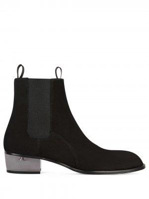 Ботинки челси на прозрачном каблуке Giuseppe Zanotti. Цвет: черный