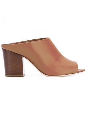 Босоножки с открытым носком Sergio Rossi. Цвет: коричневый