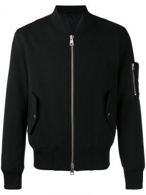 Куртка-бомбер на молнии Ami Alexandre Mattiussi. Цвет: черный