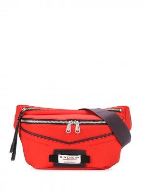 Поясная сумка с логотипом Givenchy. Цвет: красный