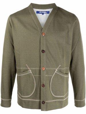 Куртка на пуговицах со вставками Junya Watanabe MAN. Цвет: зеленый