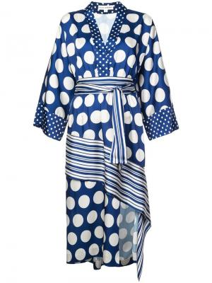 Платье с запахом Robert Rodriguez. Цвет: синий