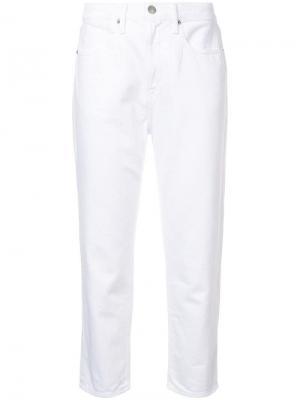 Укороченные джинсы-бойфренды FRAME. Цвет: белый