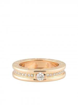Золотое кольцо B.Zero1 с бриллиантами Bvlgari. Цвет: розовый