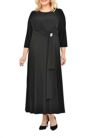 Платье, брошь SVESTA. Цвет: черный