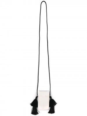 Футляр с ремешком на шею Jil Sander. Цвет: серебристый
