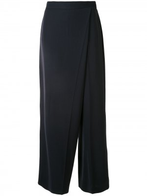 Широкие брюки асимметричного кроя Ports 1961. Цвет: синий