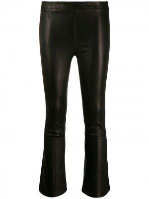 Укороченные брюки средней посадки J Brand. Цвет: черный