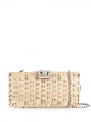 Плетеная сумка через плечо Rodo. Цвет: нейтральные цвета