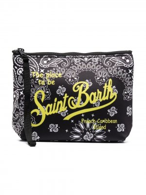 Клатч Aline с логотипом и принтом пейсли Mc2 Saint Barth Kids. Цвет: черный