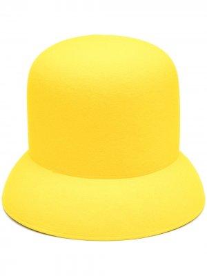 Фетровая шляпа Nina Ricci. Цвет: желтый