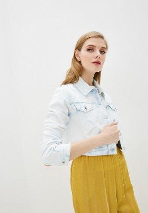 Куртка джинсовая Patrizia Pepe. Цвет: голубой