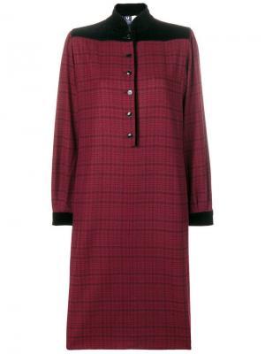 Платье в клетку Emanuel Ungaro Pre-Owned. Цвет: красный