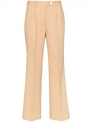 Строгие брюки с завышенной талией Victoria Beckham. Цвет: нейтральные цвета