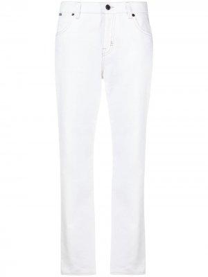 Прямые джинсы с завышенной талией TOM FORD. Цвет: белый