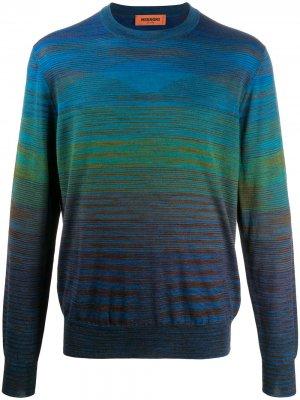 Полосатый пуловер с круглым вырезом Missoni. Цвет: синий