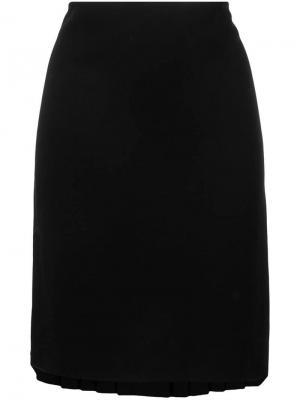 Юбка с плиссировкой сзади 1990-х годов Jean Paul Gaultier Pre-Owned. Цвет: черный