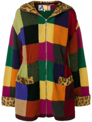 Пальто с трикотажной вставкой Jc De Castelbajac Vintage. Цвет: разноцветный