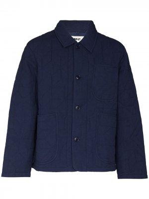 Куртка Diddy с геометричным узором YMC. Цвет: синий