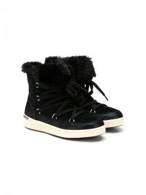 Сапоги на шнуровке Geox Kids. Цвет: черный