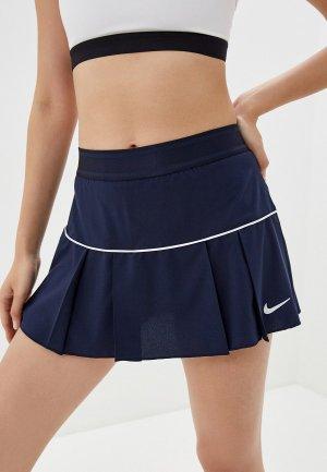 Юбка-шорты Nike. Цвет: синий