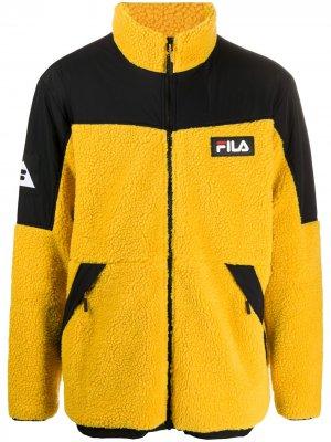 Двухцветная флисовая куртка Fila. Цвет: желтый