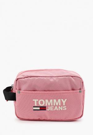 Косметичка Tommy Jeans. Цвет: розовый