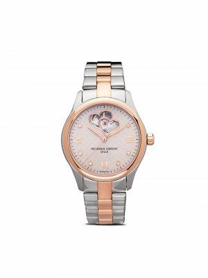 Наручные часы Automatic Lady Double Heart Beat 36 мм Frédérique Constant. Цвет: розовый