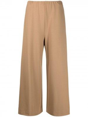 Укороченные брюки широкого кроя Harris Wharf London. Цвет: коричневый