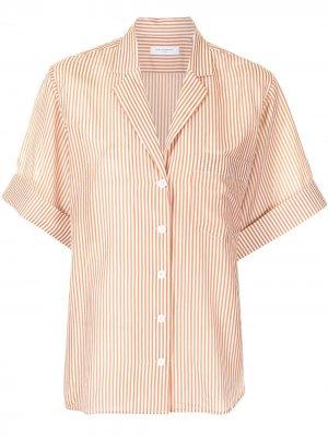 Рубашка Celeme в полоску Equipment. Цвет: оранжевый