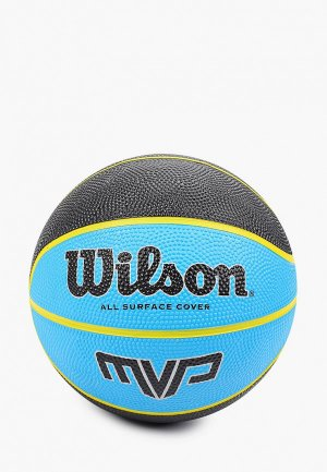 Мяч баскетбольный Wilson. Цвет: голубой