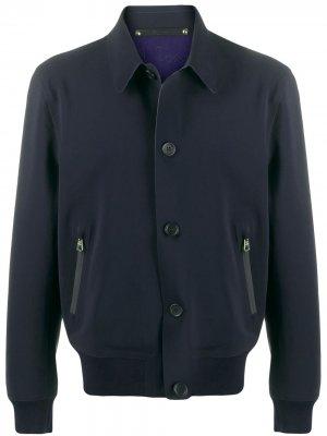 Легкая куртка на пуговицах PAUL SMITH. Цвет: синий