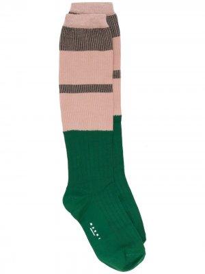 Носки в стиле колор-блок Marni. Цвет: розовый