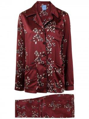 Пижама с цветочным принтом Macgraw. Цвет: красный