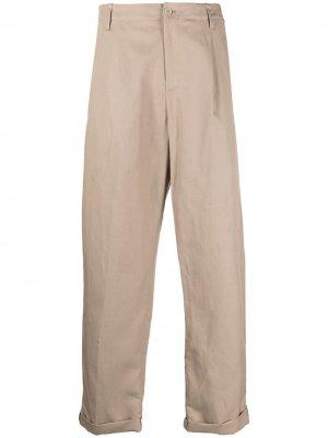 Прямые брюки с подворотами Neil Barrett. Цвет: нейтральные цвета