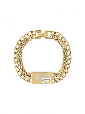 Браслет-цепочка Givenchy Pre-Owned. Цвет: желтый