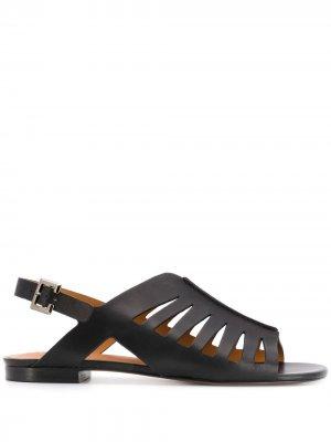 Босоножки Isaura на низком каблуке Clergerie. Цвет: черный