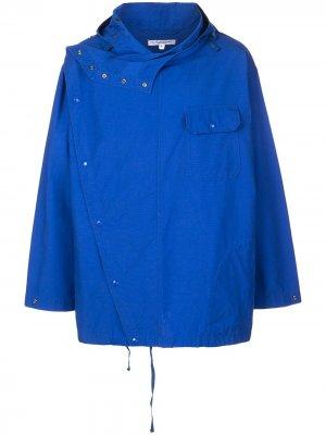 Двубортная куртка с капюшоном Engineered Garments. Цвет: синий