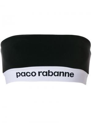 Топ-бюстье с логотипом Paco Rabanne. Цвет: черный
