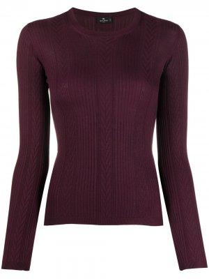 Пуловер со вставками Etro. Цвет: красный