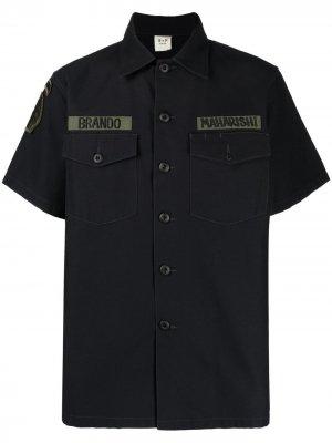 Рубашка в стиле с нашивками Maharishi. Цвет: черный