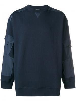 Patchwork jersey sweater Qasimi. Цвет: синий