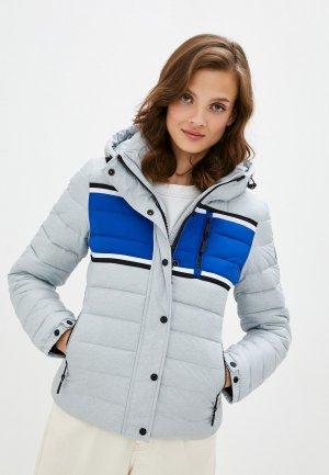 Куртка утепленная Superdry. Цвет: серый