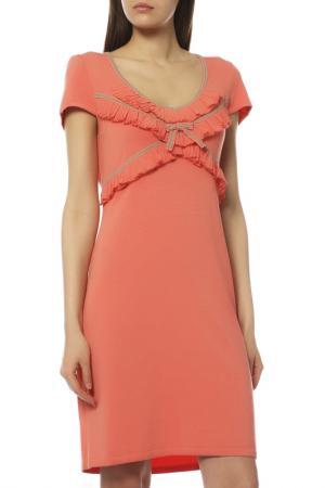 Платье PATOUCHKA. Цвет: коралловый