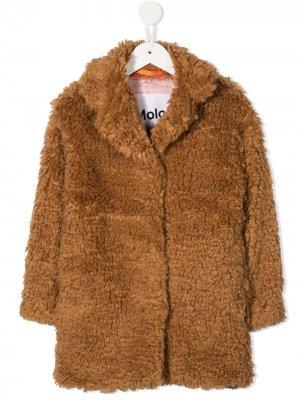 Пальто Haili длины миди Molo. Цвет: коричневый