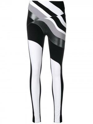 No Ka Oi спортивные леггинсы с волнистым принтом Ka'. Цвет: черный